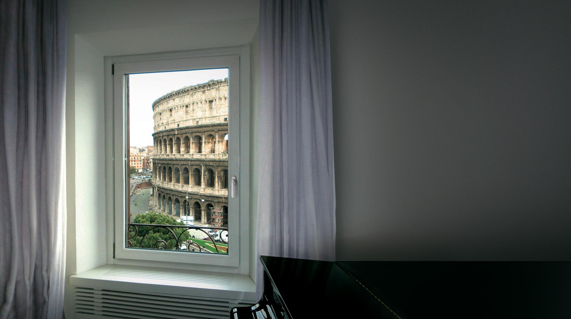 Salotto con finestra Koncept