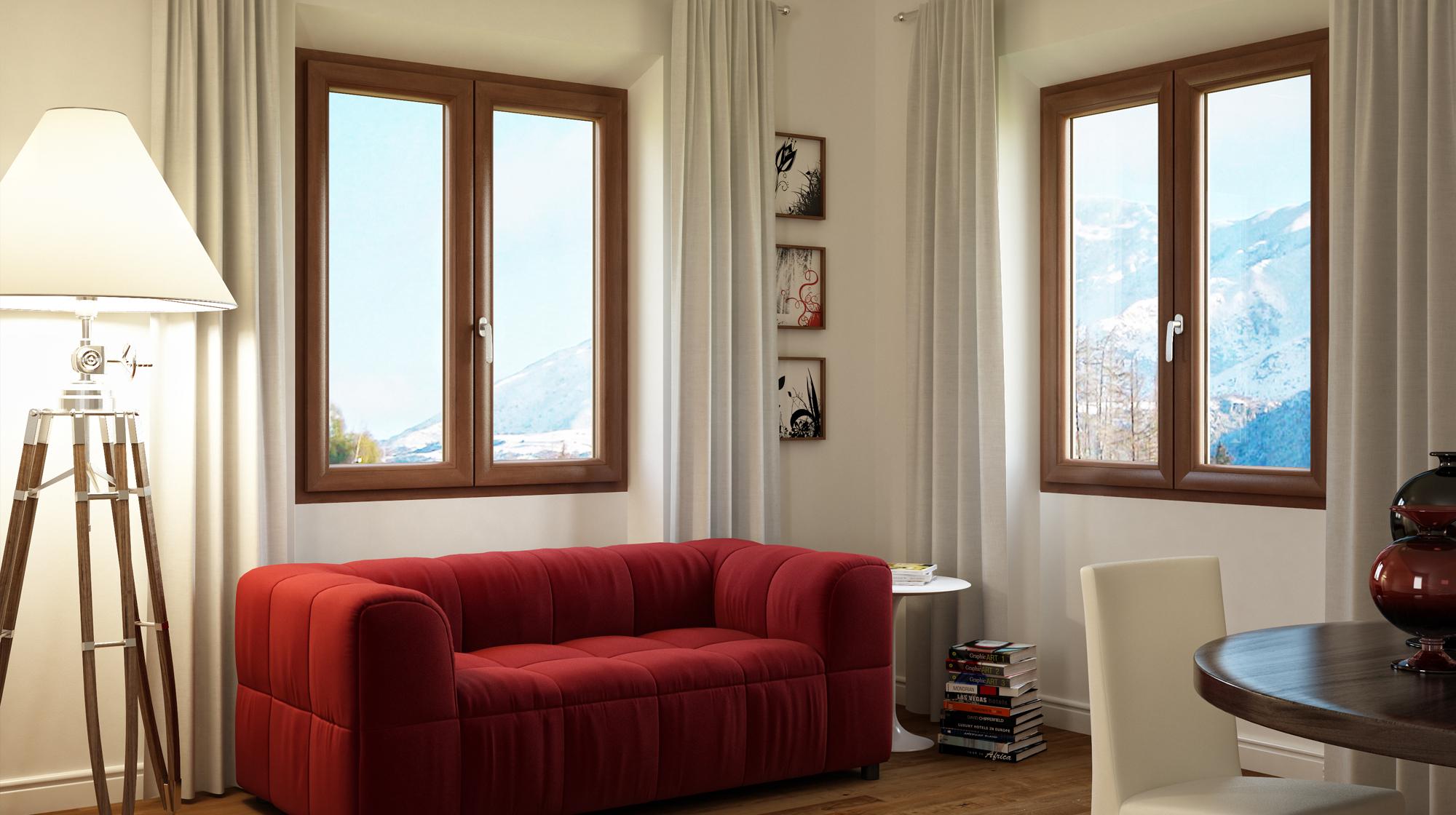 Salotto con finestre Platinium Evolution